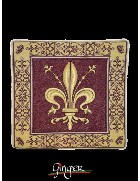 Giglio di Firenze - Cuscino in tre differenti colori - 32 x 32 cm