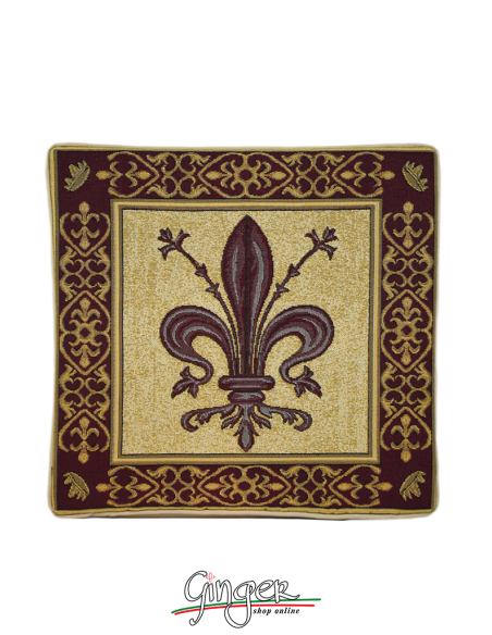 Lily of Florence - Pillow - three different colors - 12.59 x 12.59 in.