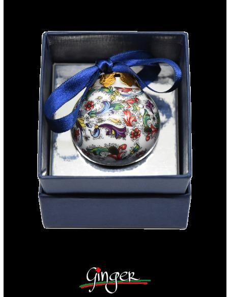 Palla di Natale in porcellana - Carta Fiorentina 45 o 80 mm