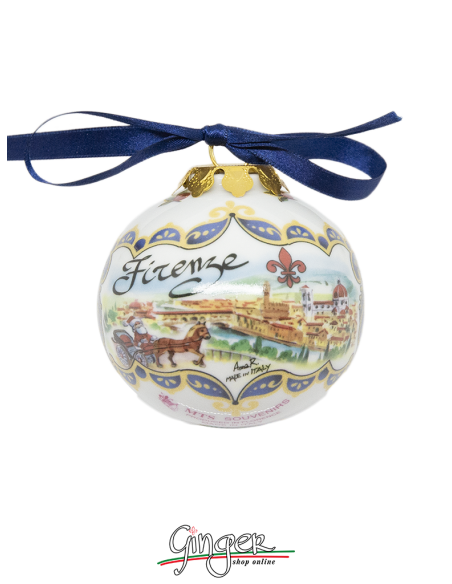 Palla di Natale - Firenze Panorama e Ponte Vecchio 45 o 80 mm