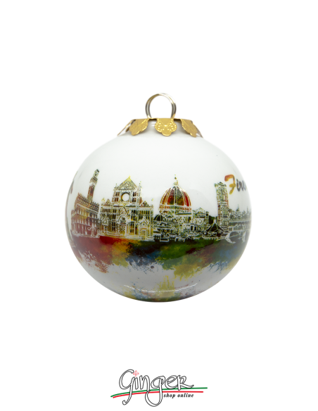 Palla di Natale - Flying Paint: Firenze - 45 o 80 mm