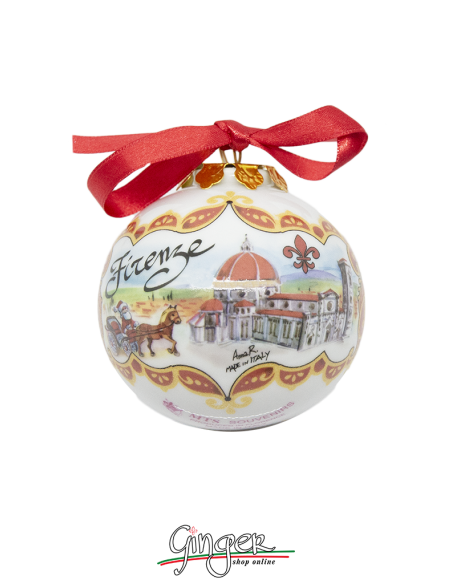 Christmas Ornaments: Florence Cathedral and Palazzo della Signoria 1.77 or 3.14 in.