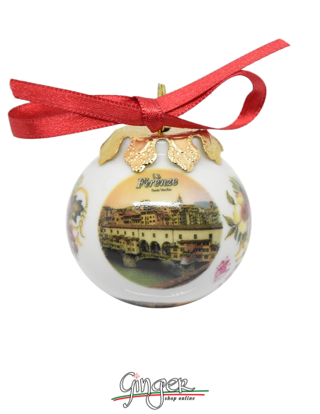 Palla di Natale - Firenze Ponte Vecchio o Duomo - 45 mm