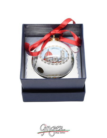 Palla di Natale - Firenze 3 vedute con Giglio 80 mm
