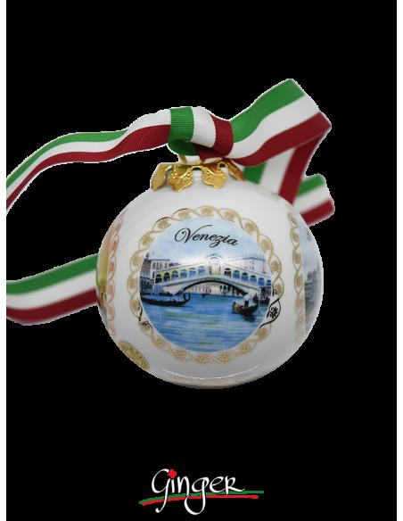 Palla di Natale - Italia 4 città 80 mm