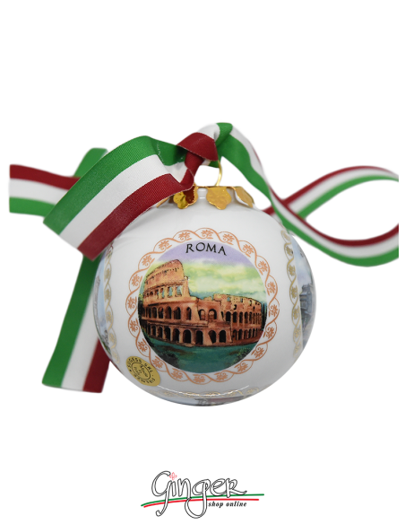 Christmas Ornaments: Five views of Italy 3.14 in.