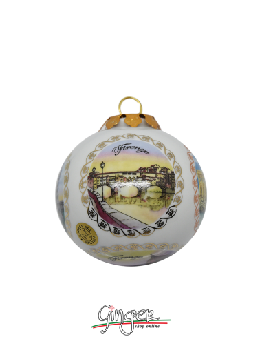 Christmas Ornaments: Five Views of Florence 3.14 in.