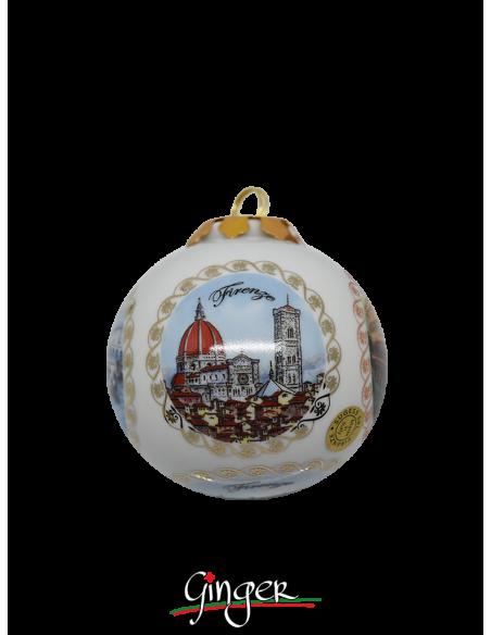 Palla di Natale - Firenze 5 Vedute 80 mm