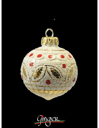 Palla di Natale in ceramica di Deruta - BI 60 mm o 80 mm