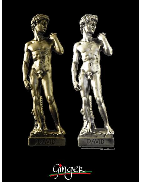 David - 29 cm - spazzolato color oro o argento