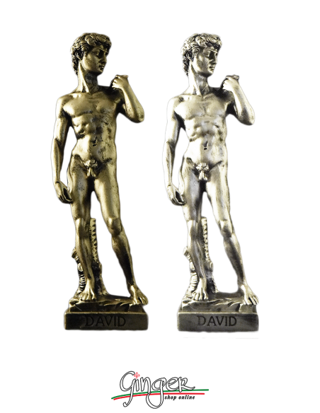 Michelangelo' s David - 11.4 in. (29 cm) - brushed gold or silver color