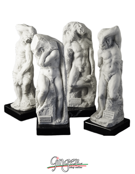 Michelangelo's Prisoners or Slaves at the Accademia in Florence - 7.9 in or 9.8 in.