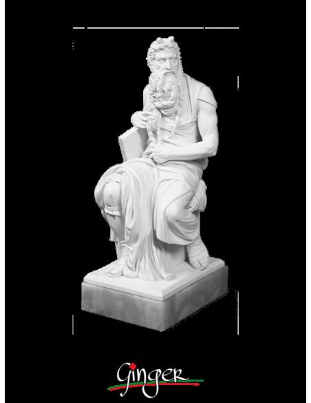 Mose' in San Pietro in Vincoli a Roma - 30 cm o 44 cm - con base in alabastro