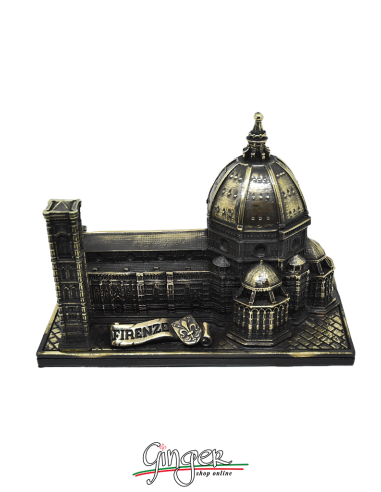 Duomo di Firenze con foglia di bronzo -  base 14x23 cm