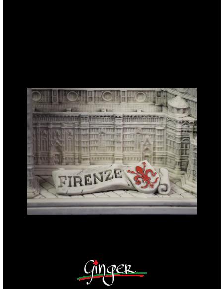 Duomo di Firenze patinato - base 14x23 cm