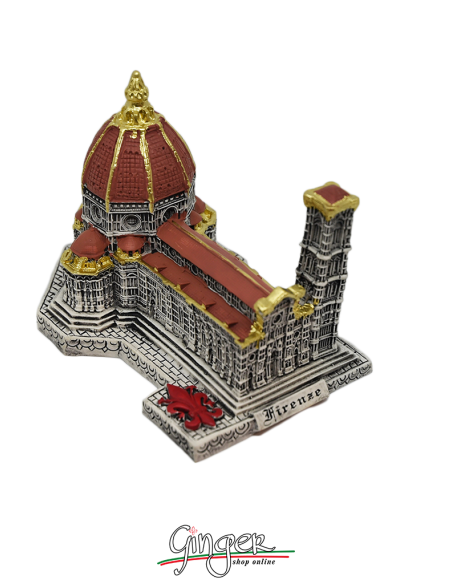 Duomo di Firenze dipinto a mano - base 10x15 cm