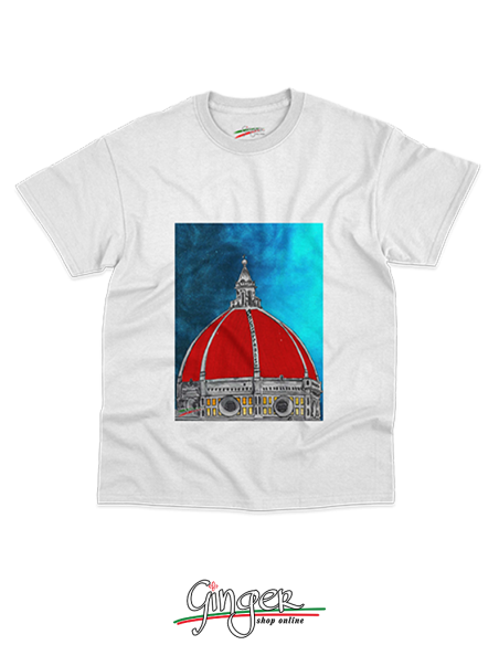 "T shirt ""New Art"" - Cupola di Brunelleschi a Firenze"