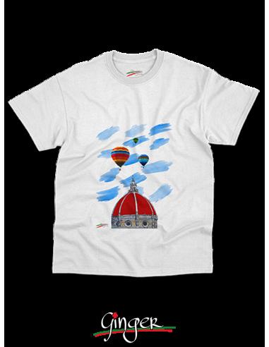 "T shirt ""New Art"" - Mongolfiere sopra il Duomo di Firenze"