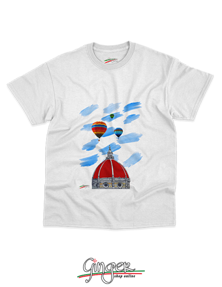 "T-shirt ""New Art"" - Hot air balloons over the Florence Cathedral"