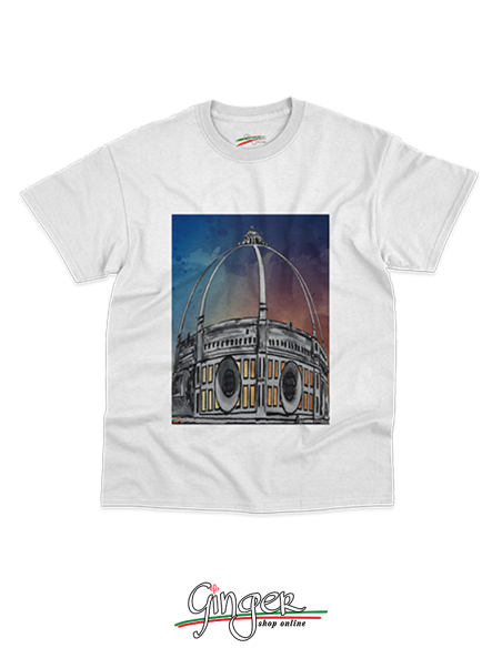 "T shirt ""New Art"" - Cupola del Duomo al tramonto"
