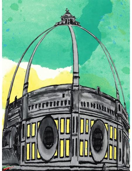 "T shirt ""New Art"" - Cupola del Duomo in primavera"