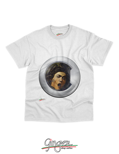 "T-shirt ""New Art"" - Caravaggio's Medusa ... in the washing machine"