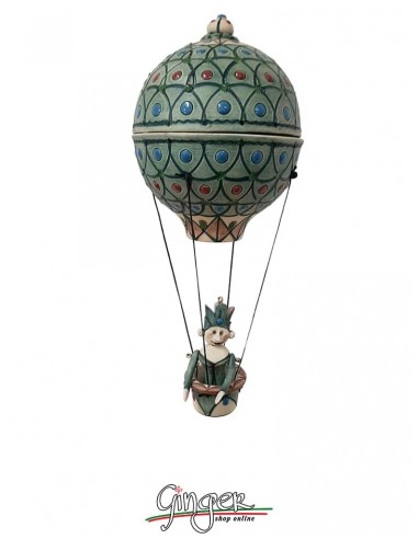 Mongolfiera in Grès Porcellanato - diametro 10 cm altezza 22 cm