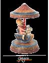 La Giostra Rosa o Blu con Bambino a Cavallo - Ø 6.5 cm, altezza 17 cm
