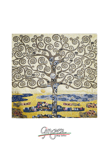 Tree of Life by Klimt - Pillow 16.5 x...