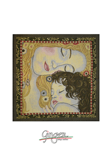 Mother and Child by Klimt - Tapestry or Pillow