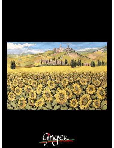 Tuscany Landscape: sunflowers - Tapestry