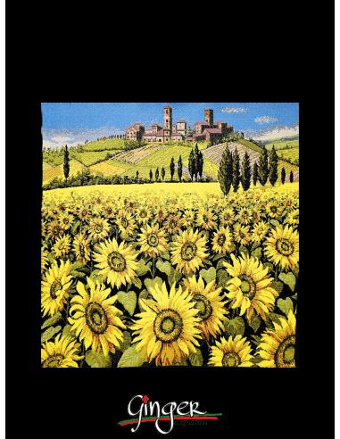 Paesaggio toscano: girasoli - Arazzo...