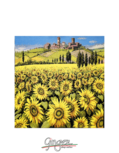 Tuscany Landscape: sunflowers - Tapestry or Pillow
