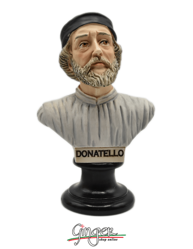 Donatello - busto 15 cm dipinto a mano