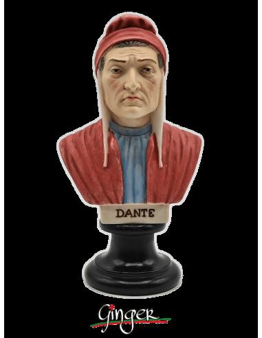 Dante Alighieri - busto 15 cm dipinto a mano