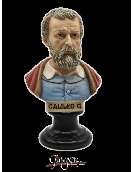 Galileo Galilei - busto 15 cm dipinto a mano