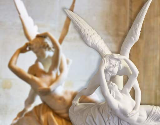 statue of love and psyche of Canova