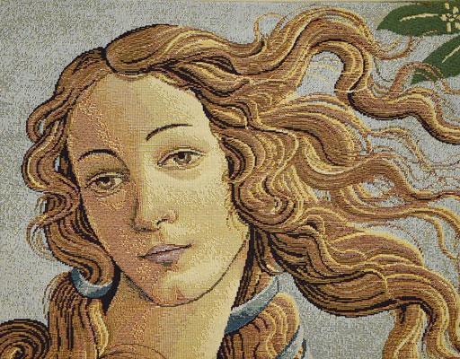 tapestry with Botticelli's Venus