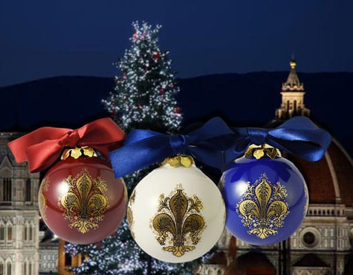 palle di Natale in ceramica di Deruta