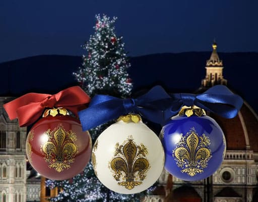 ceramic Christmas balls of Deruta