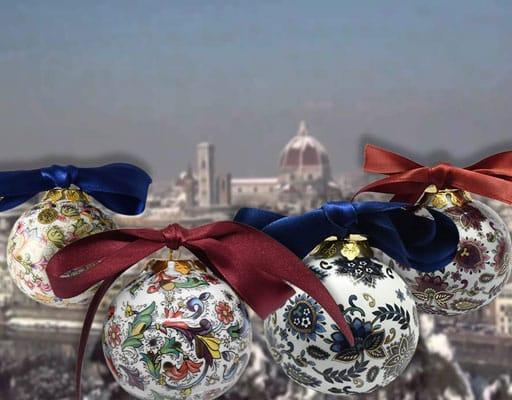 porcelain Christmas balls