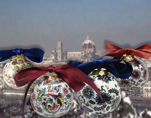 palle di Natale in porcellana