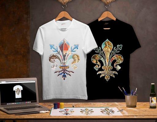 t-shirt stampate con opere d'arte